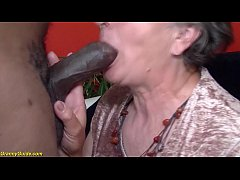 HD hairy 80 years old granny first interracial