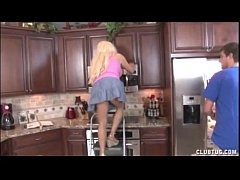 Blonde Milf Jerking In The Kitchen