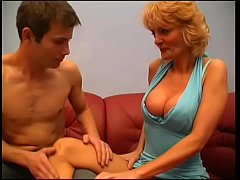 Blonde mature slut gets her pussy licked then fucked by young dude