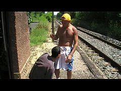 i fuck a twink outdoor in public rail train