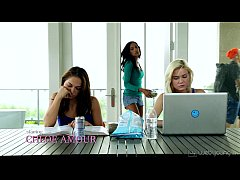 College Sara Luvv and Chloe Amour Toying Each O...