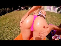 Perfect Asses Teens Playing At The Pool. Busty Blonde! Hot!