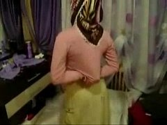 Arab Turkish girl with hijab turban being masturbated