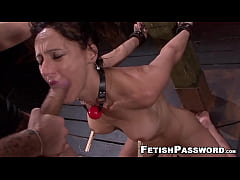 Submissive MILF fed jizz after rough sex