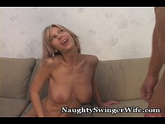 Friend Cums First In Wife's Mouth