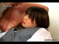 Japanese school girl Ami Matsuda blowjob and facial