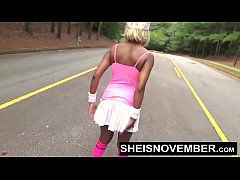 Msnovember Tiny Ebony Exhibition Young Blonde Nudist Walking Outside Pulling Out Big Natural Saggy Titties And Puffy Nipples With Pussy Flash HD Sheisnovember