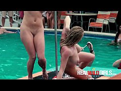 Insane Pool Party Final Round Pussy Fingering Sluts
