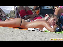 Big Tits Amateur Bikini Topless Teens - Voyeur Beach Video