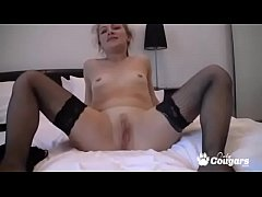 Horny MILF In Fishnet Stockings Masturbating On Cam - Kusem