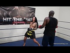Interracial Mixed Boxing Male vs Female