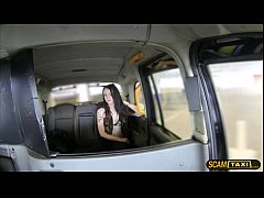 Euro babe Alessa gets bounced on a big cock driver