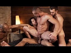 four gay men orgy