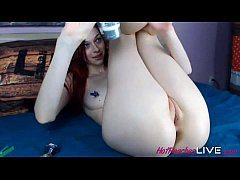 Liana likes to show her wide open holes. She is shy but kiny