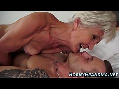 Sperm mouthed granny fuck