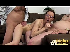 Threesome party after work