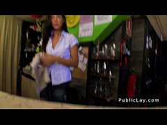 Spanish amateur bangs pov in public bar