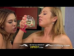 Vipissy - Hot blonde pissing lesbians try piss drinking and pussy licking