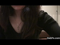 Home alone teen shows her little body on cam