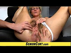 sdHairy old pussy close-ups and fingering with grandma Hanna
