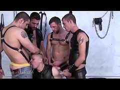 leather group orgy