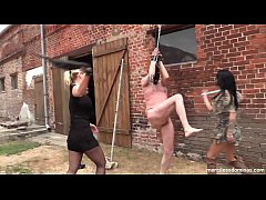 Geprügelt - Hard Outdoor Whipping with SweetBaby and Lady Deluxe