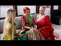 Pre-wedding Indian bride ceremony (starring kayla green, eva berger, empera, mugur, chad)