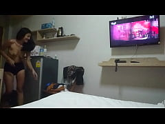 Thai whore in hotel room
