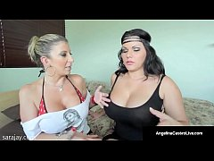 angelina castro gives fans blowjobs with sara jay