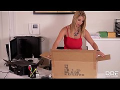 Sex toy fun at the office gives babe Katerina Hartlova chills of pleasure