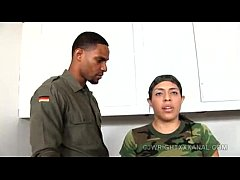 Latina recruit gets fucked by sergeant