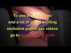 HD Huge tits star Krystal Swift undressing in the car before public orgy gang bang