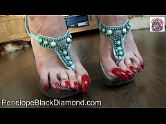 Penelope Black Diamond Footlick  Footjob Blowjob Milk Preview