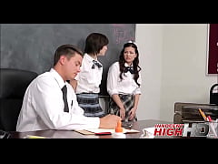 Two High School Teens Get Fucked By Teacher - InnocentHighHD.com