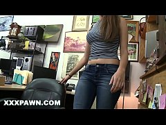 XXXPAWN - Big Dick Pawn Shop Owner Fucks A Beautiful Brunette Whom Is Down On Her Luck