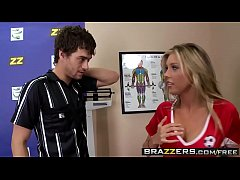 Sporty teen (Samantha Saint) fucks the referee after the game - Brazzers