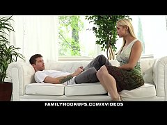 HD FamilyHookups- Hot Stepmom Sucked My Cock In Exchange For Chores