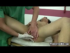 Hot stud doctor is fingering and rimming patient