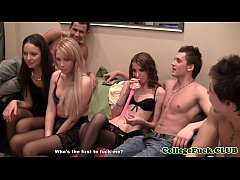 Euro teens fucking during college sexparty