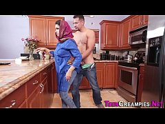 Little arab gets creampie