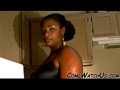 SENUAL SEX IN KITCHEN BY EBONY COUPLE !!