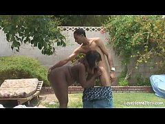 Horny black chick is pleasuring her man passioantely