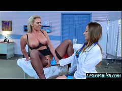 Hot Lez Girl (dani&phoenix) Get Punish By Mean Lesbo With Dildos clip-15