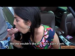Tight amateur teen drilled by stranger in the backseat
