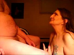 Cumming in mouth of ugly submissive granny. Real amateur