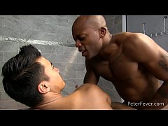 Black Stud Osiris Blade as King T'Balla Gets Drenched with Sticky White Fluid in Sexy Ritual, Slams Asian Ken Ott's Muscular Ass, THE BLACK PANDA superhero parody