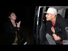 Tight Asian Pussy Stretched and Jizzed in the Pick Up Van