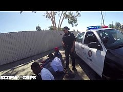 Screw the Cops - white female cop fucked by three BBC