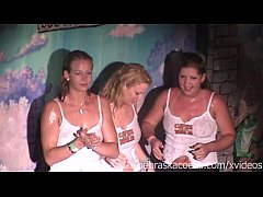 ggw wet t shirt contest at spring break bar tequila frogs
