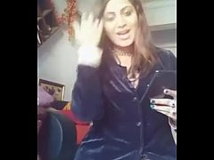 Arshi Khan  showing great boobs and cleavage for Shahid Afridi